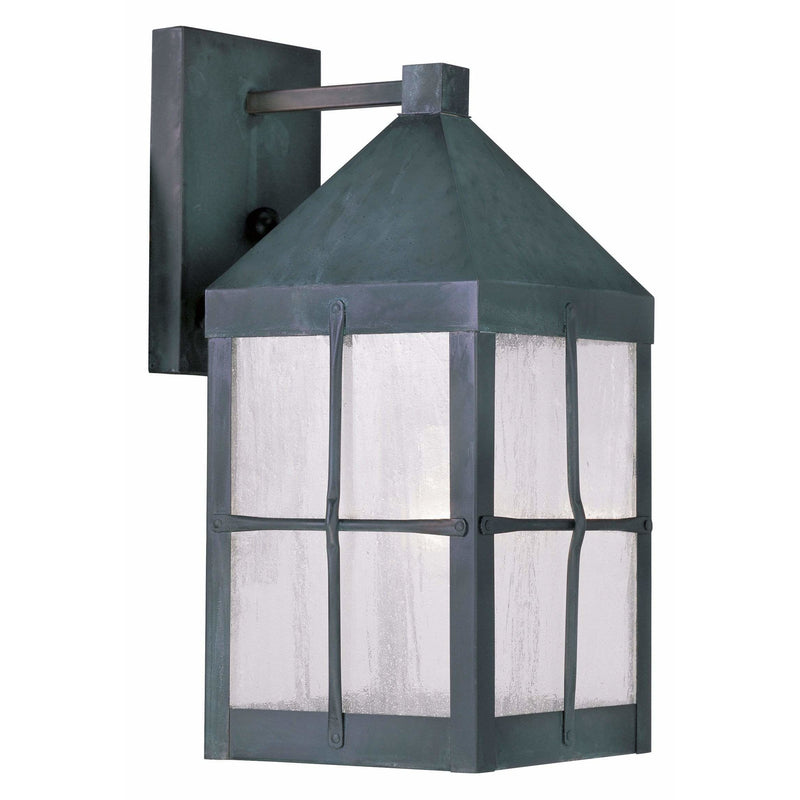 Livex Lighting Outdoor Wall Lanterns Hammered Charcoal Finish / Seeded Glass Brighton Hammered Charcoal Finish Outdoor Wall Lantern By Livex Lighting 2681-61