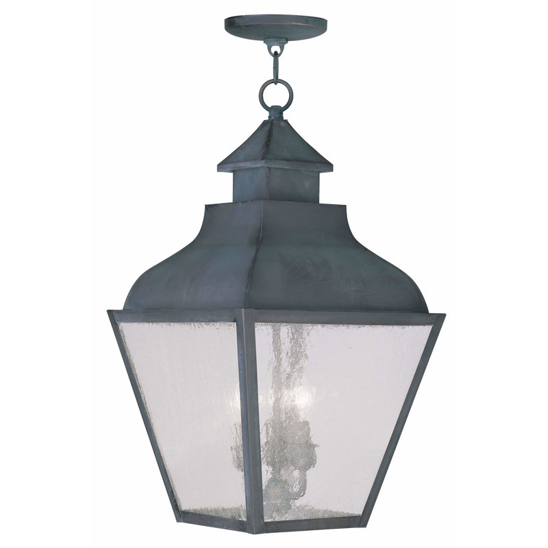 Livex Lighting Outdoor Pendants Lanterns Charcoal / Seeded Glass Vernon Charcoal Outdoor Pendant Lantern  By Livex Lighting 2456-61
