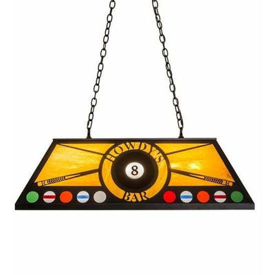 Meyda Lighting Ceiling Fixture, Billiard/Islands Default 8 Ball Personalized Howdy'S Bar Ceiling Fixture By Meyda Lighting 184995