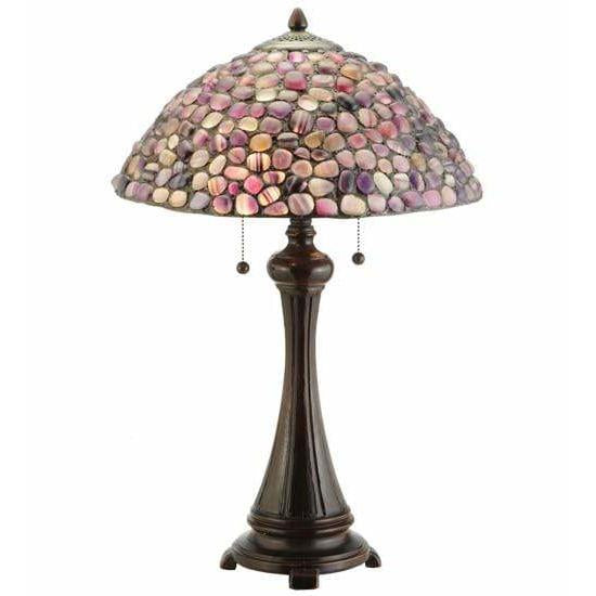 Meyda Lighting Table Lamps, Lamps Default Agata Purple Table Lamps By Meyda Lighting 138125