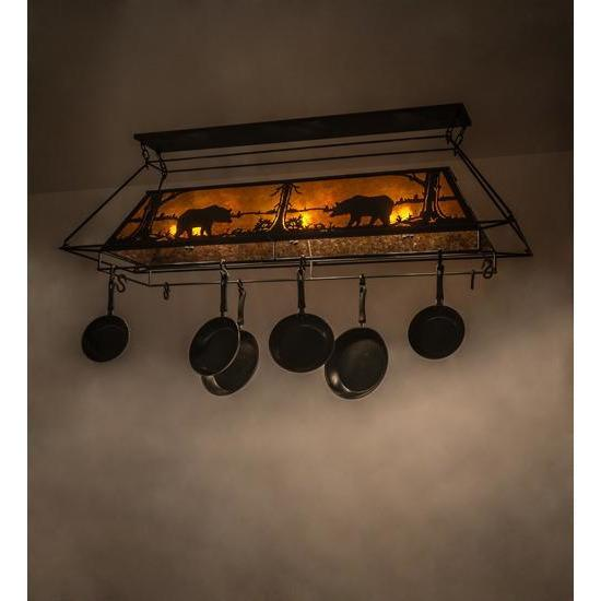 Meyda Lighting Pot Racks Default Bear At Lake Ceiling Fixture By Meyda Lighting 172029