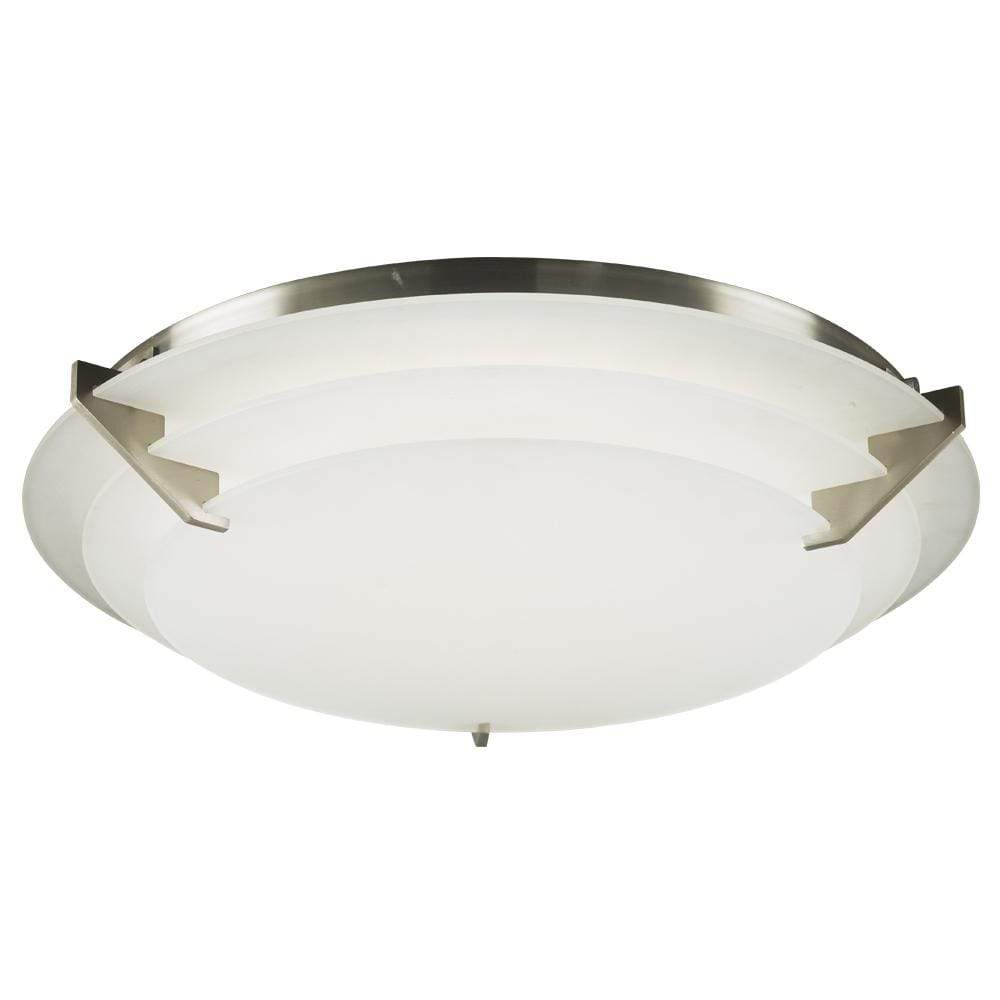 PLC Lighting Flush Mounts Satin Nickel / Integrated LED / Integrated LED 1 ceiling light from the Palladium collection By PLC Lighting 1546