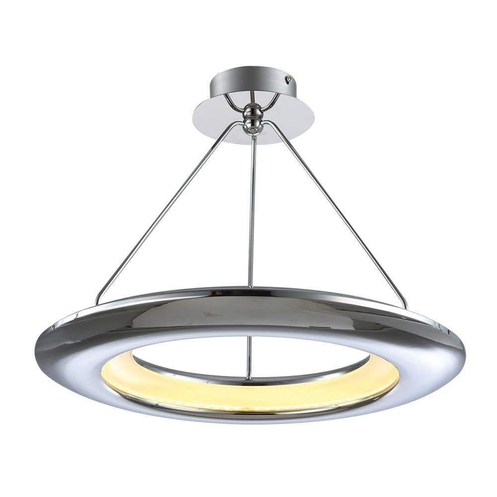 PLC Lighting Pendants Polished Chrome / Integrated LED 1 Ceiling Pendant from the UFO collection By PLC Lighting 88808