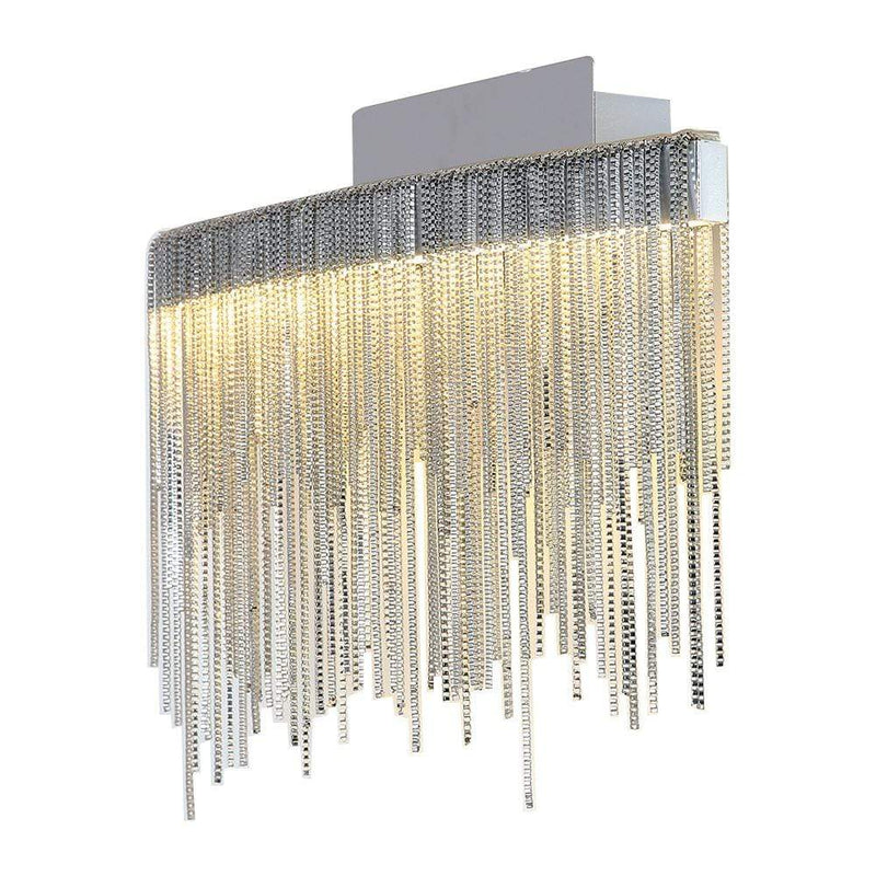 PLC Lighting Bathroom Lighting Polished Chrome / Integrated LED 1 Ceiling pendant light from the Davenport collection By PLC Lighting 91158