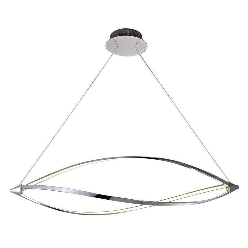 PLC Lighting Pendants Polished Chrome / Integrated LED 1 Ceiling Tria Pendant By PLC Lighting 7300