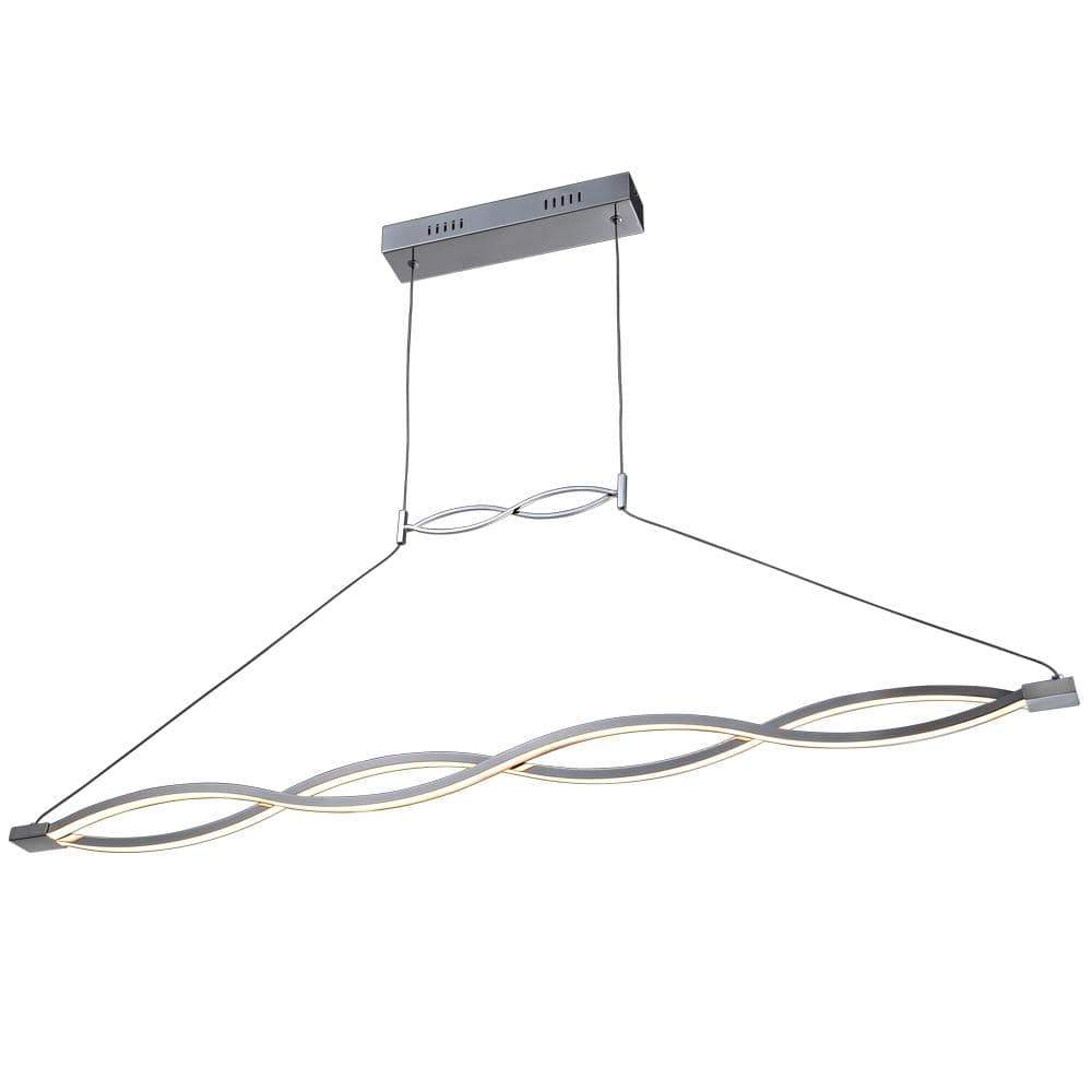 PLC Lighting Pendants Polished Chrome / Integrated LED 1 Ceiling Twist Pendant By PLC Lighting 7310