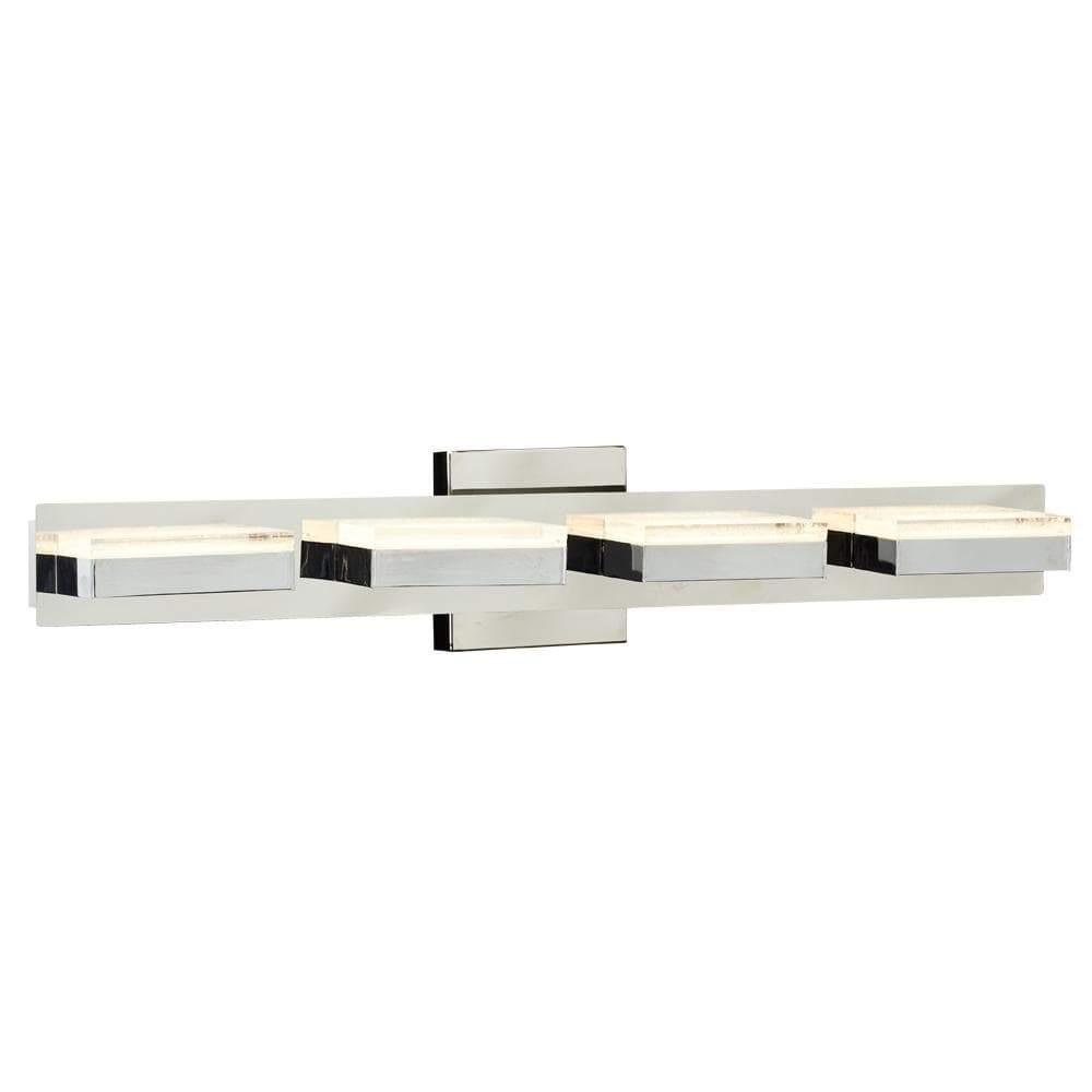 PLC Lighting Bathroom Lighting Polished Chrome / Integrated LED 1 Four step vanity from the Sigma collection By PLC Lighting 91147