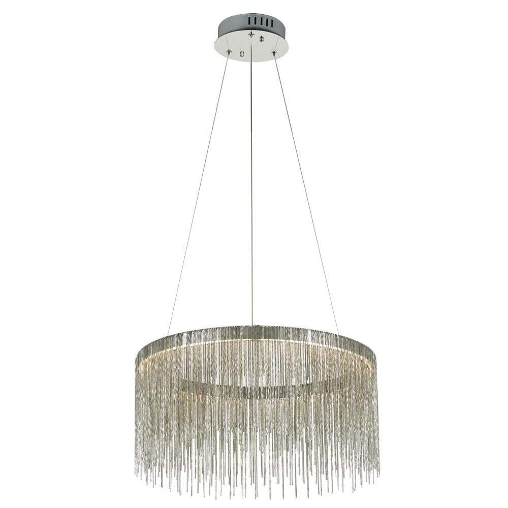 PLC Lighting Chandeliers Polished Chrome / Integrated LED 1 Hanging Ceiling Pendant from the Davenport collection By PLC Lighting 91154