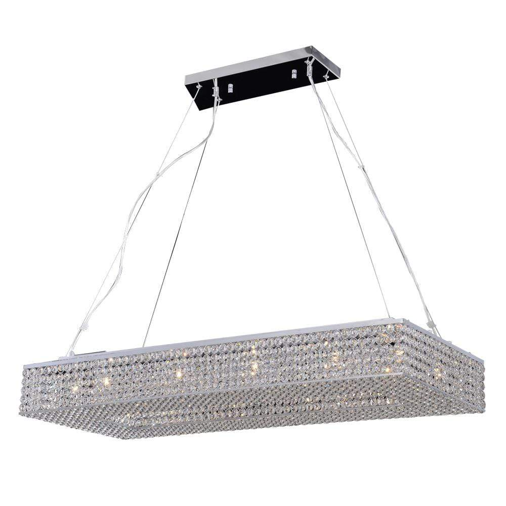 PLC Lighting Chandeliers Polished Chrome / Asfour Handcut Crystal / G9 (included) 1 Hanging Pendant from the Alexa collection By PLC Lighting 92919