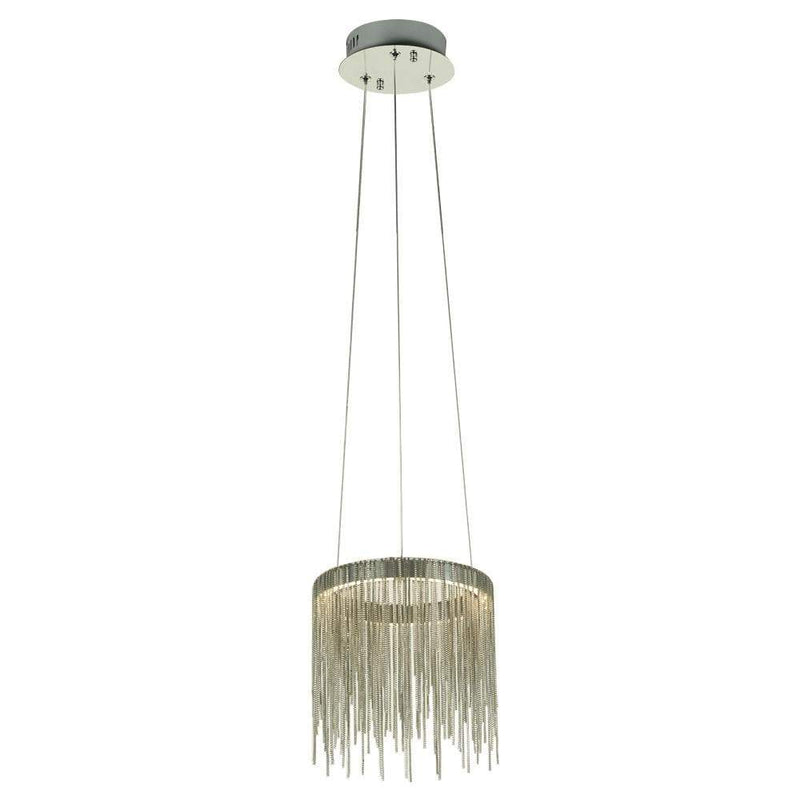 PLC Lighting Pendants Polished Chrome / Integrated LED 1 Hanging pendant from the Davenport collection By PLC Lighting 91152