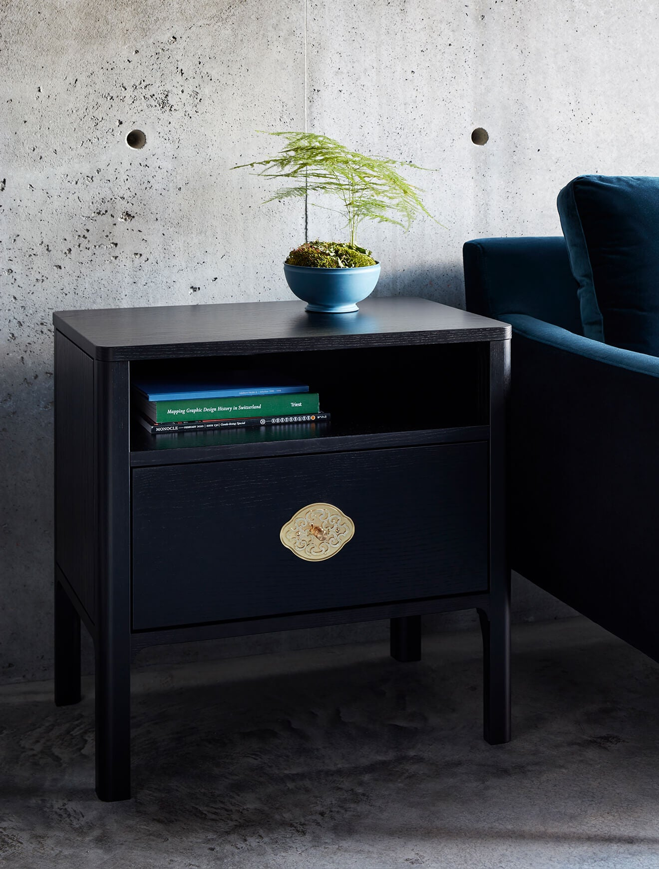 Ebonzized Bedside Table