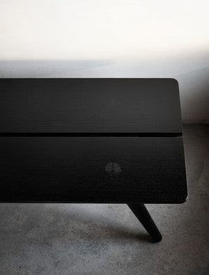 Ebonized Stabellenbank—Swiss Stable Bench