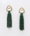 Green Pearl String Layer Triangle Shape Attractive Earring