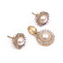 White Color Traditional Pendant Set Designing Look with Pair of Earrings
