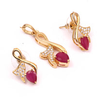 Ruby Color Designer Pendant in Mangalsutra style Pendant for All Women And Girls