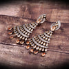 Jhumka Style Champagne Color Stone Four Layer Pleasing Earring