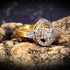 Fashionable Gold Plated American Diamond Stone Ring