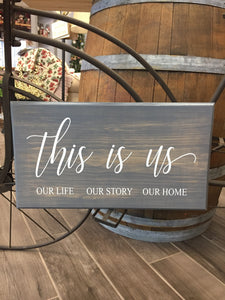 Handcrafted wood This is us sign
