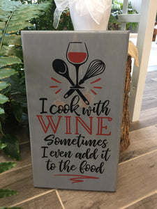Handcrafted wood Wine sign