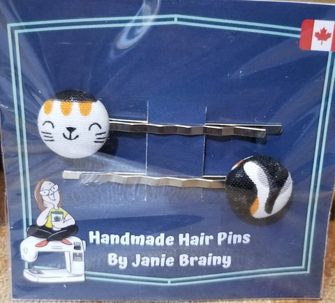 Handmade Pussy Cat Hair Pins-Accessory-ellënoire body, bath fragrance & curly hair
