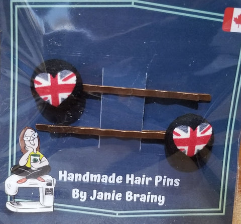 Handmade British Love Hair Pins-Accessory-ellënoire body, bath fragrance & curly hair