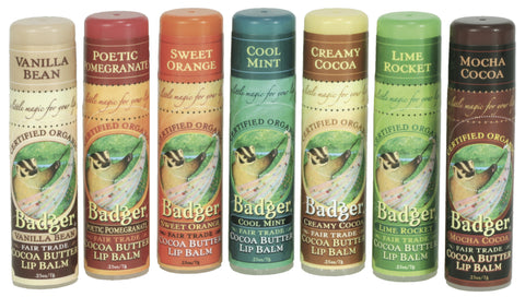 Badger Cocoa Butter Lip Balm-Skin Care-ellënoire body, bath fragrance & curly hair