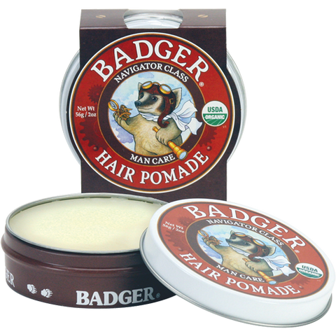 Badger Men's Hair Pomade-Hair Care-ellënoire body, bath fragrance & curly hair