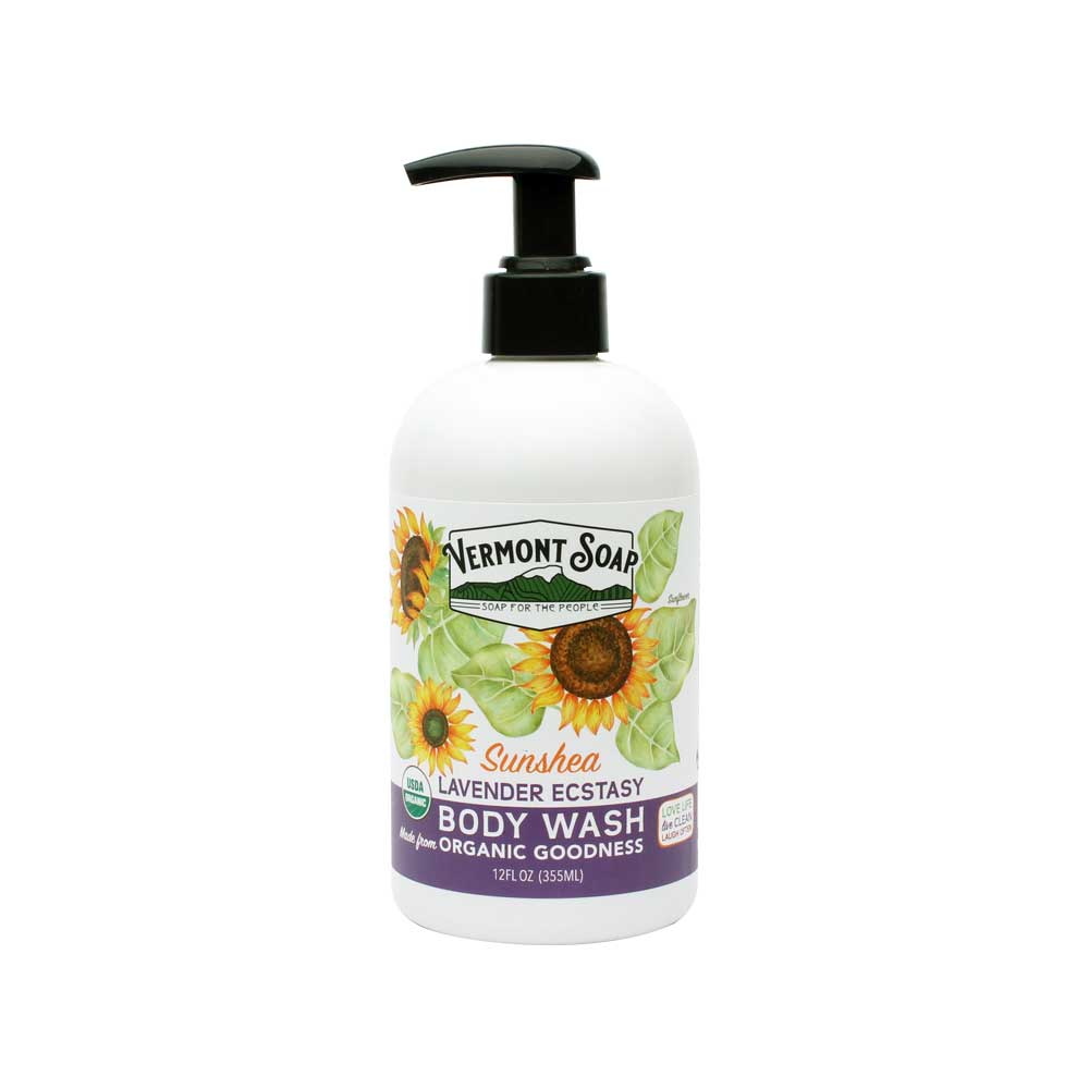 Vermont Soap - SunShea Organic Body Wash - Lavender Ecstasy-ellënoire body, bath fragrance & curly hair