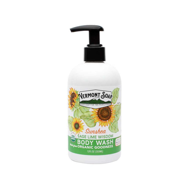 Vermont Soap - SunShea Organic Body Wash - Sage Wisdom-body wash-ellënoire body, bath fragrance & curly hair
