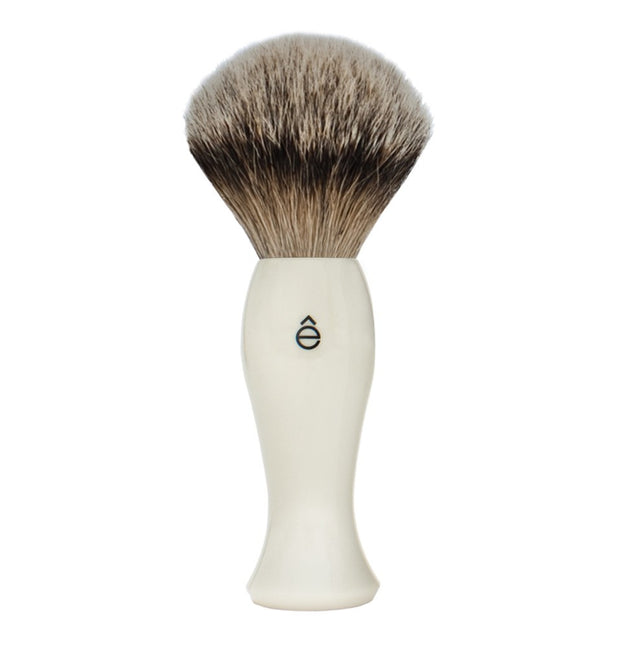 eShave Shaving Brush - White-Shaving-ellënoire body, bath fragrance & curly hair