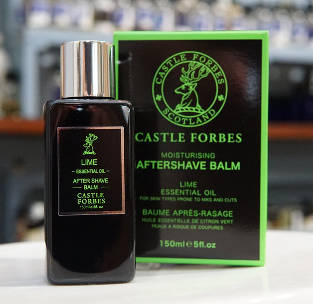 Castle Forbes Aftershave Balm 150ml - Lime Essential Oil-Shaving-ellënoire body, bath fragrance & curly hair