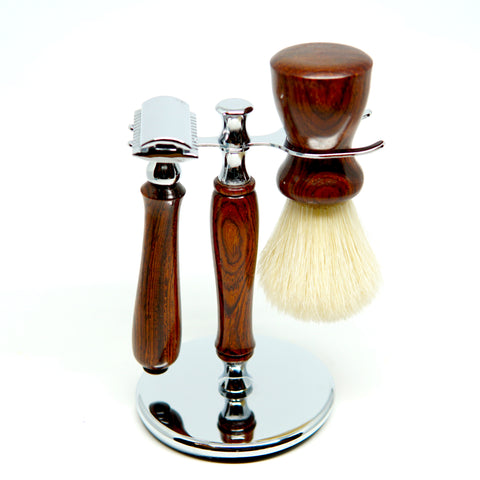 Deluxe Handmade Razor & Brush Stand-Shaving-ellënoire body, bath fragrance & curly hair