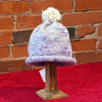 ellënoire Curly Safe Hats - Pastel Chilote Toque with Pom-Pom-Hat-ellënoire body, bath fragrance & curly hair