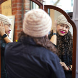 Clearance! Curly Safe Hats - Toasted Marshmallow Wool Toque-Hat-ellënoire body, bath fragrance & curly hair