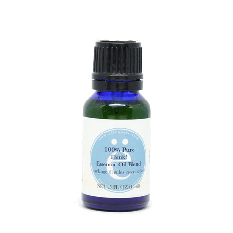 Think! 100% Pure Essential Oil Blend, 20 ml in a glass bottle with dropper top-ellenoire fragrance-ellënoire body, bath fragrance & curly hair