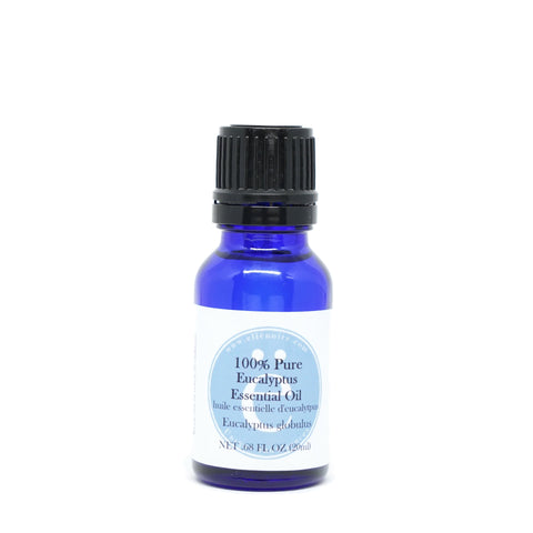 Eucalyptus 100% Pure Essential Oil, 20 ml in a glass bottle with dropper top-ellenoire fragrance-ellënoire body, bath fragrance & curly hair