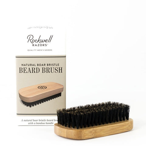 Rockwell Razors Beard Brush Natural Boar Bristle-Shaving-ellënoire body, bath fragrance & curly hair