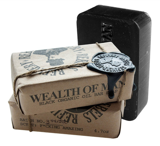 Rebels Refinery Wealth of Man Organic Bar Soap-Face Products-ellënoire body, bath fragrance & curly hair