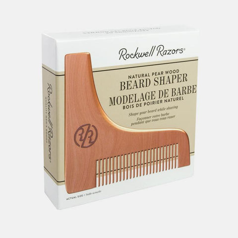 Clearance!! Rockwell Razors Beard Shaper Natural Pear Wood-Shaving-ellënoire body, bath fragrance & curly hair