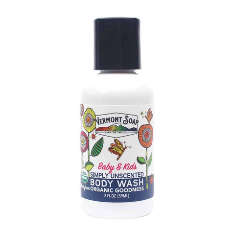Vermont Soap -SunShea Organic Body Wash - Baby & Kids Unscented-body wash-ellënoire body, bath fragrance & curly hair