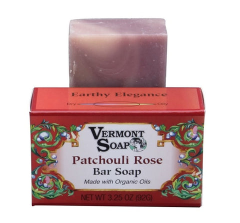 Vermont Soap Organic Soap Bar- Patchouli Rose Scent-Soap-ellënoire body, bath fragrance & curly hair