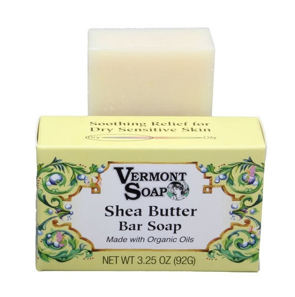 Vermont Soap Organic Soap Bar- Shea Butter Bar-Soap-ellënoire body, bath fragrance & curly hair
