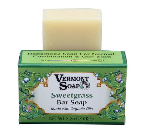 Vermont Soap Organic Soap Bar- Sweetgrass Scent-Soap-ellënoire body, bath fragrance & curly hair