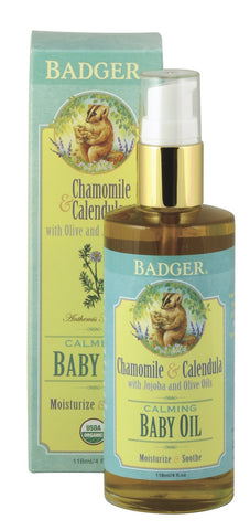Badger Baby Oil-Mama & Baby-ellënoire body, bath fragrance & curly hair