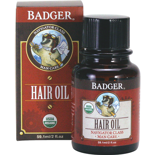 Badger Men's Hair Oil-ellënoire body, bath fragrance & curly hair