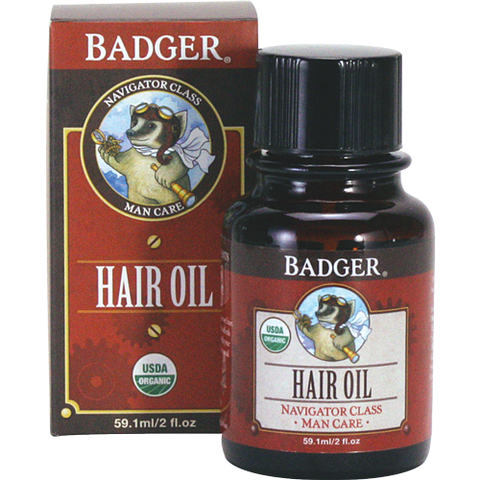 Badger Men's Hair Oil-Hair Oil-ellënoire body, bath fragrance & curly hair