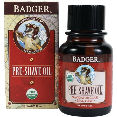 Badger Men's Pre-Shave Oil-Shaving-ellënoire body, bath fragrance & curly hair