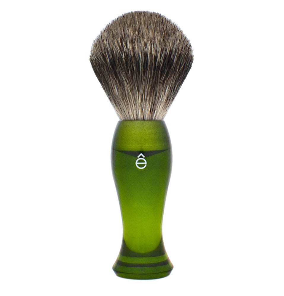 e-Shave Shaving Brush - Green-Shaving-ellënoire body, bath fragrance & curly hair