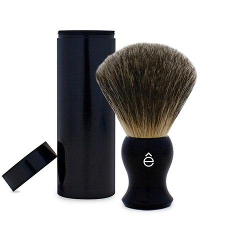 e-Shave Travel Shaving Brush - Black-Shaving-ellënoire body, bath fragrance & curly hair
