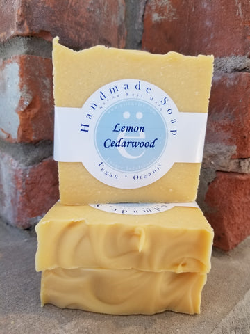 ellënoire Handmade Lemon Cedarwood Soap-Face Products-ellënoire body, bath fragrance & curly hair